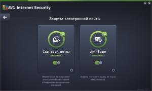 AVG Internet Security 2015 защита электронной почты