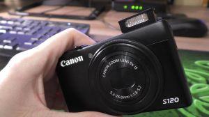 Canon S120. Вспышка
