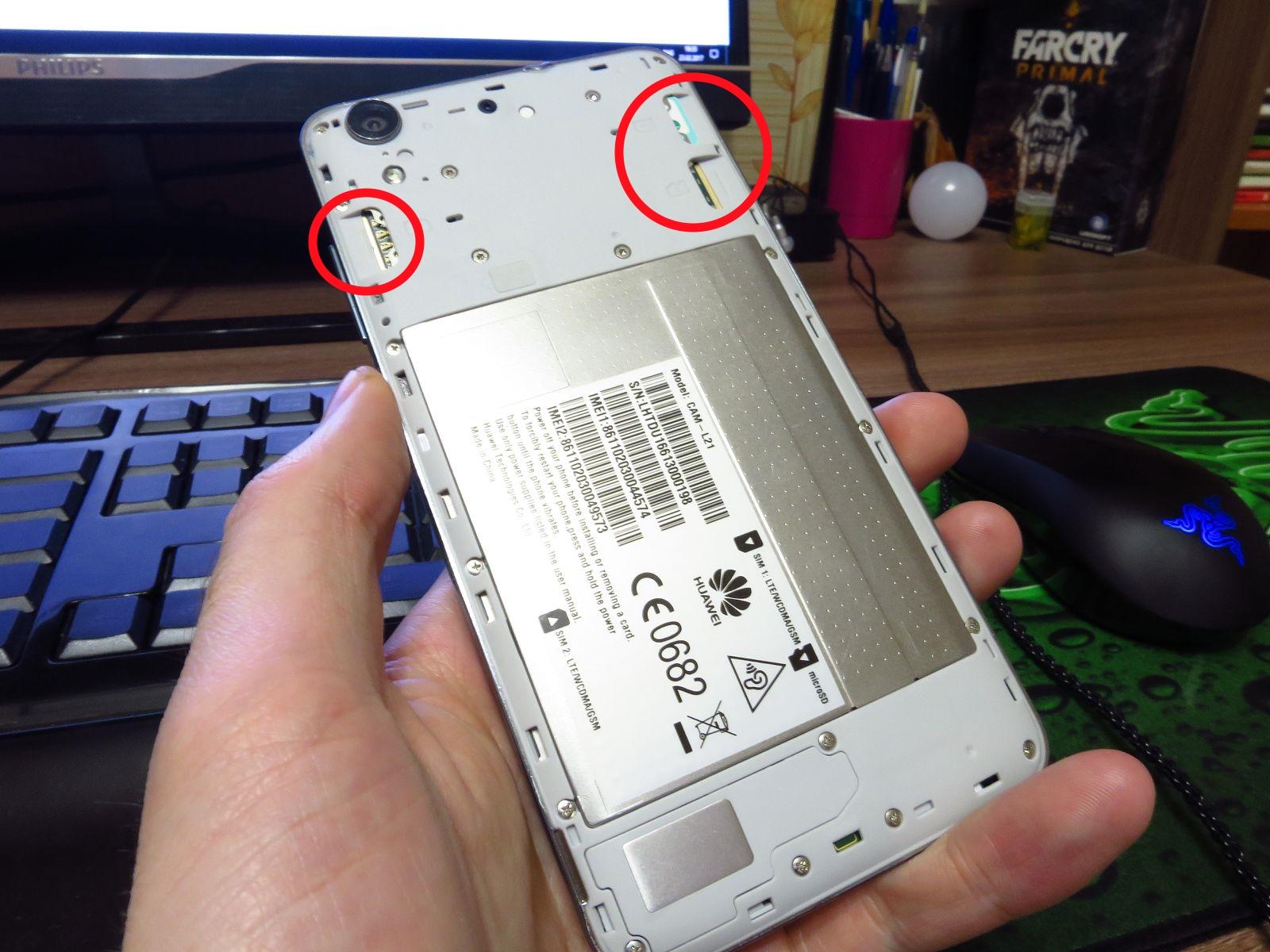 Слоты Huawei Y6II