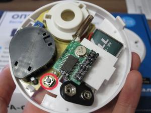 Кнопка тест, датчика дыма