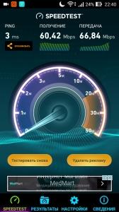 Скорость Wi-Fi Zyxel Keenetic Extra II