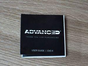 Инструкция пользователя Advanced Evo X