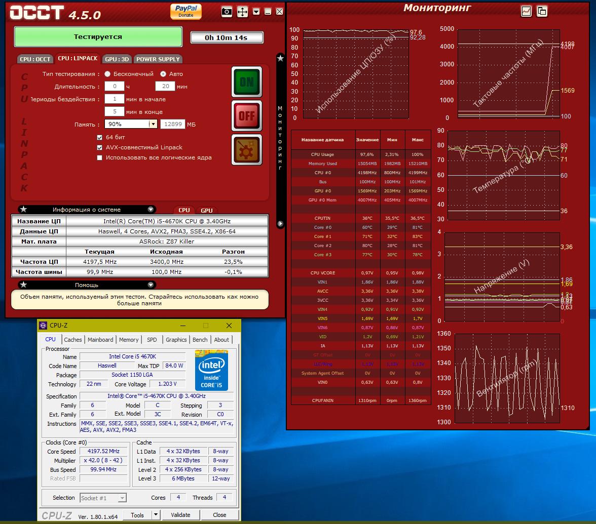 Intel Core i5 4670K (разгон 4.2)