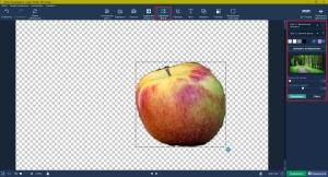 Замена фона фотографии в фоторедакторе Movavi
