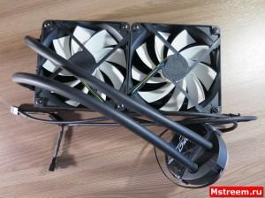 Установка вентиляторов на систему Arctic Freezer 240