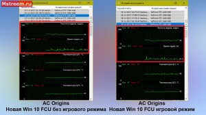 Assassins Creed Origins время отрисовки кадра. Игровой режим включен/выключен Windows 10 Fall Creators Update