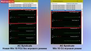 Assassins Creed Syndicate время отрисовки кадра. Игровой режим включен/выключен Windows 10 Creators Update и Fall Creators Update