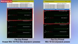 Far Cry Primal время отрисовки кадра. Игровой режим включен/выключен Windows 10 Creators Update и Fall Creators Update