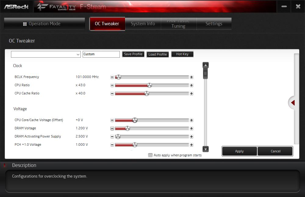 F-Stream Tuning. ASRock Fatal1ty Z370 Gaming K6