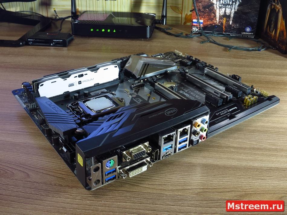 Дизайн платы ASRock Fatal1ty Z370 Gaming K6