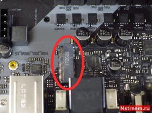 M.2 Wi-Fi/Bluetooth разъём ASRock Fatal1ty Z370 Gaming K6