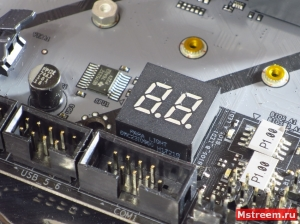 Индикатор пост кодов ASRock Fatal1ty Z370 Gaming K6