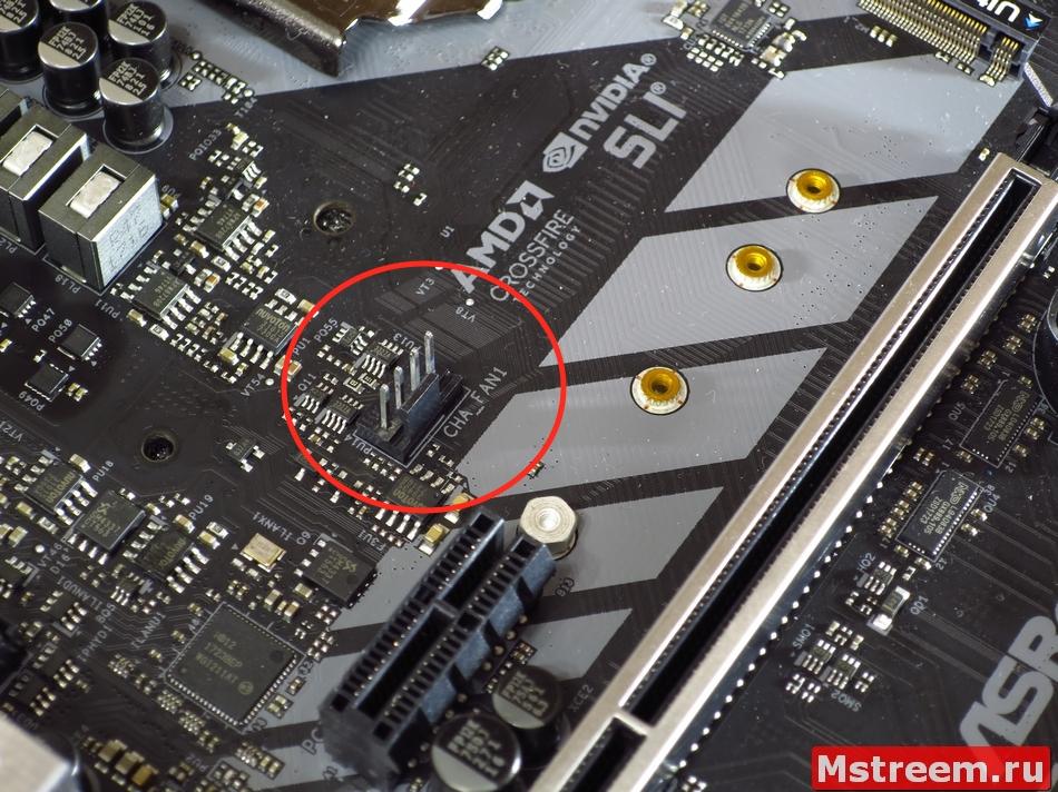 Разъём вентилятора (CHA_FAN1). ASRock Fatal1ty Z370 Gaming K6