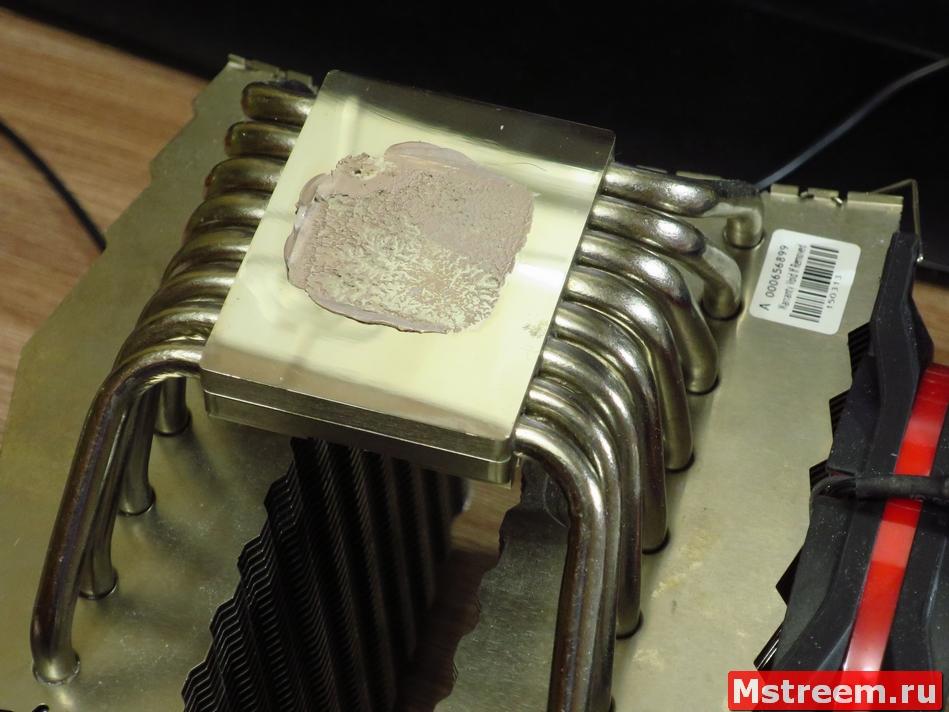 Распределение термопасты Cooler Master E2