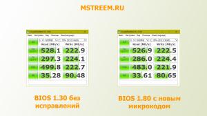 Тест производительности в CrystalDiskMark и новый микрокод процессора Intel. Spectre и Meltdown.