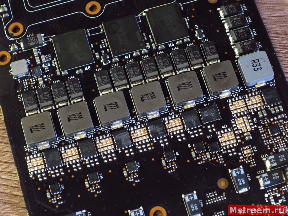 Система питания видеокарты Inno3D GTX 1070ti iChill X3