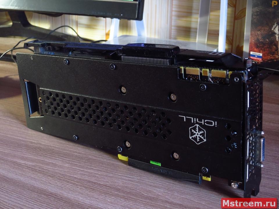 Дизайн видеокарты Inno3D GTX 1070ti iChill X3