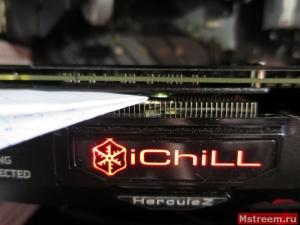 Охлаждение видеопамяти на видеокарте Inno3D GTX 1070ti iChill X3