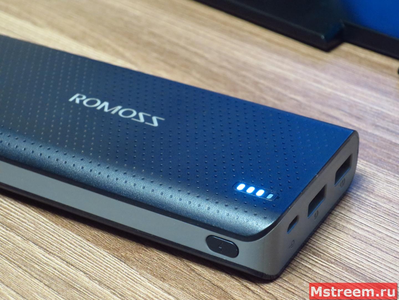 Портативный аккумулятор Romoss Sense 15