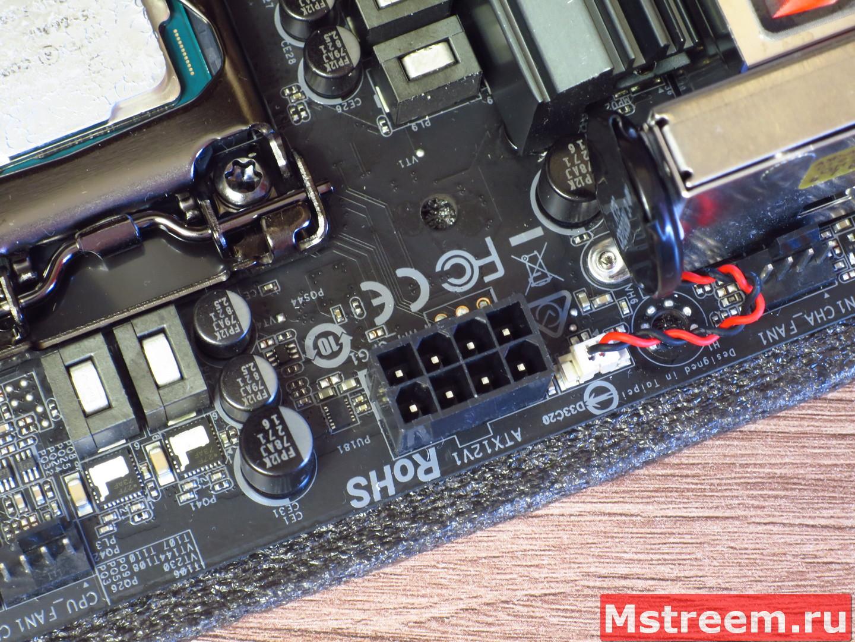 Коннекторы вентиляторов на материнской плате ASRock Fatal1ty Z370 Gaming-ITX/ac
