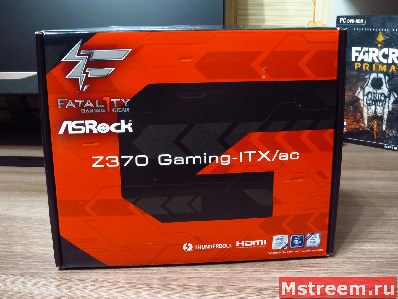 Упаковка материнской платы ASRock Fatal1ty Z370 Gaming-ITX/ac