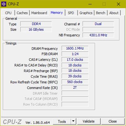 Разгон оперативной памяти на материнской платы ASRock Fatal1ty Z370 Gaming-ITX/ac