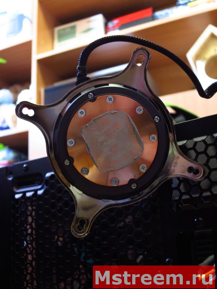 Пятно контакта термопасты кулера процессора Fractal Design Celsius S24