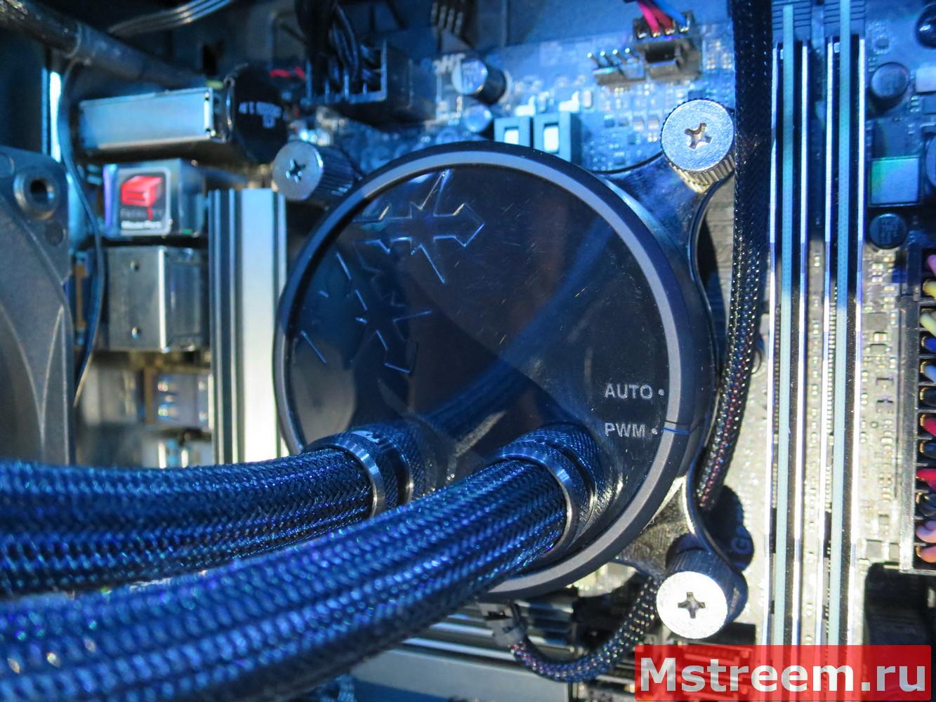 Выбор режима работы системы охлаждения Fractal Design Celsius S24