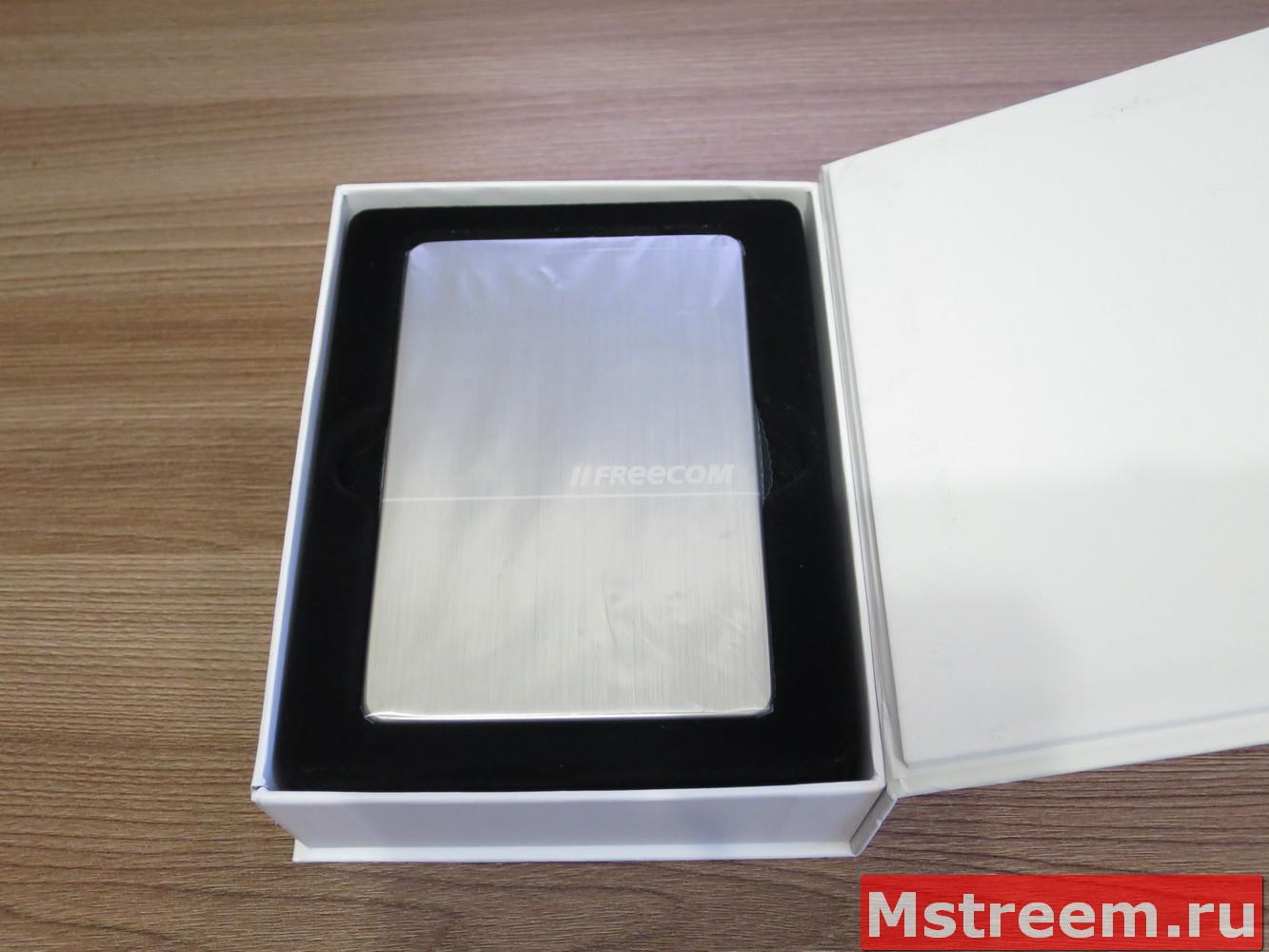 Упаковка внешнего жёсткого диска Freecom mHDD SLIM