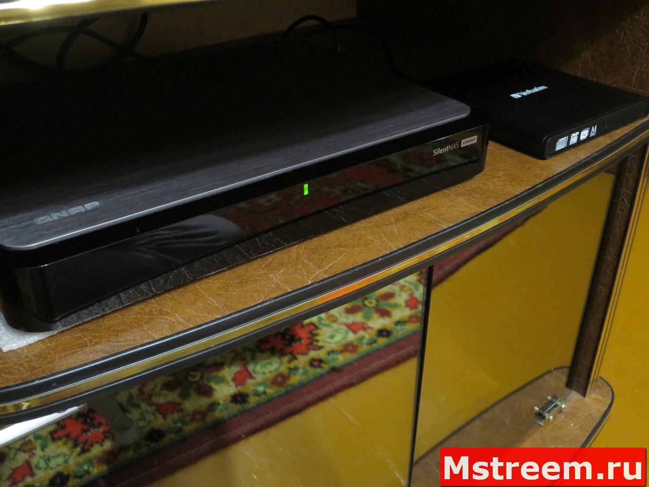 NAS Qnap S2 и Внешний привод оптических дисков CD/DVD Verbatim