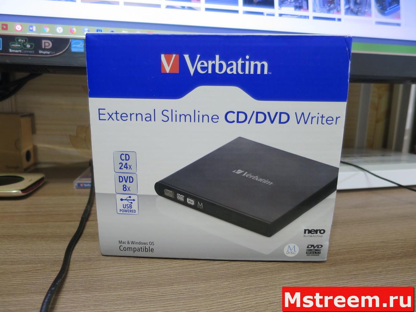 Внешний привод оптических дисков CD/DVD Verbatim