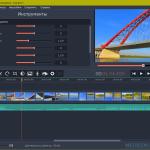Настройка параметров видео и цветокоррекция. Создание слайдшоу в Movavi Слайдшоу
