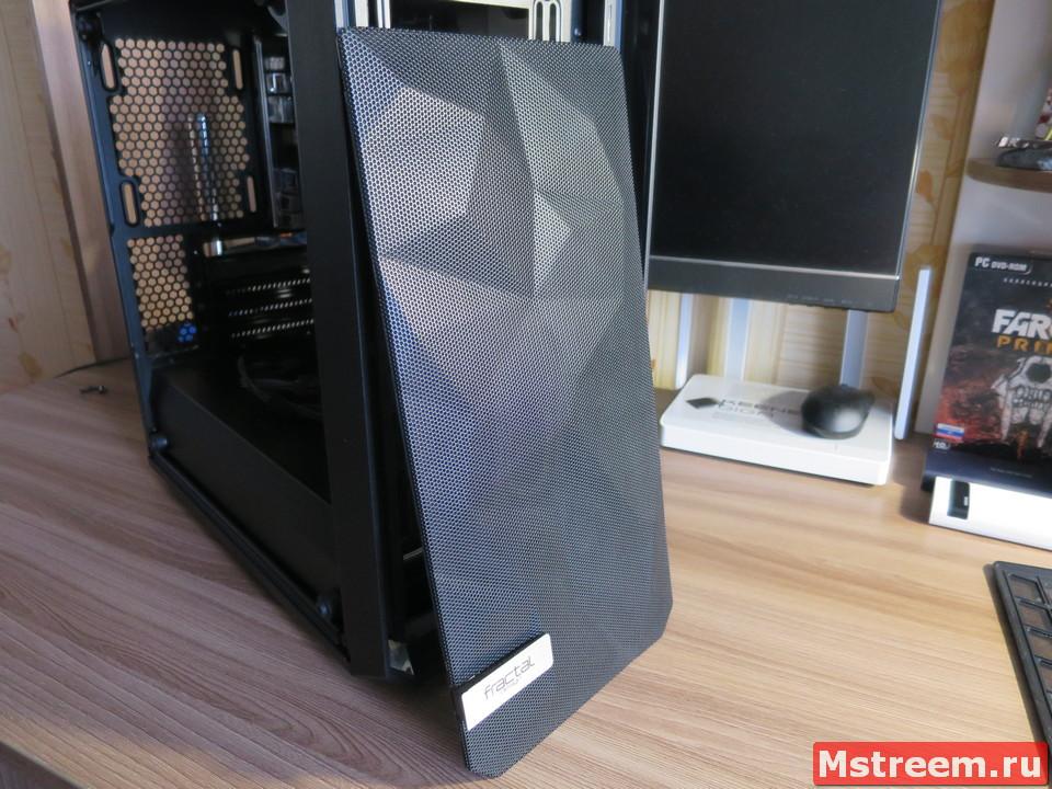 Корпус Fractal Design Meshify C Mini. Передний пылевой фильтр