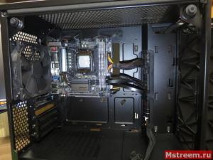 Прокладка проводов от блока питания и кабель менеджмент. Корпус Fractal Design Meshify C Mini