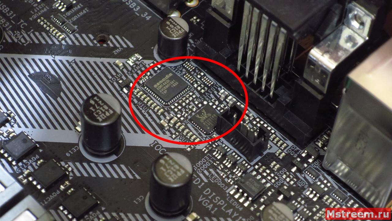 Микроконтроллеры на материнской плате ASRock Z390 Extreme 4