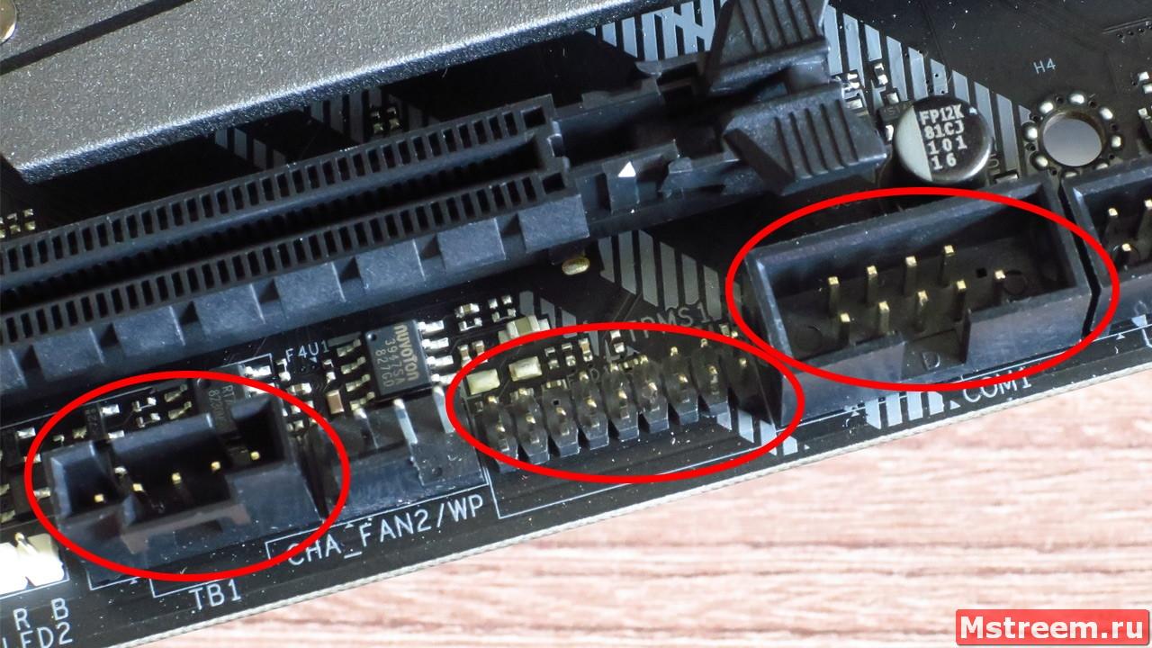 Дополнительные колодки на материнской плате ASRock Z390 Extreme 4