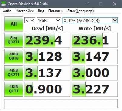 CrystalDiskMark: Производительность жёсткого диска Seagate Iron Wolf 8 ТБ ST8000VN0022
