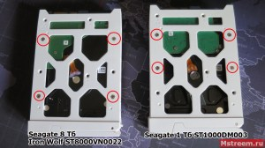Жёсткий Seagate Iron Wolf 8 ТБ ST8000VN0022 и NAS Qnap TS-451