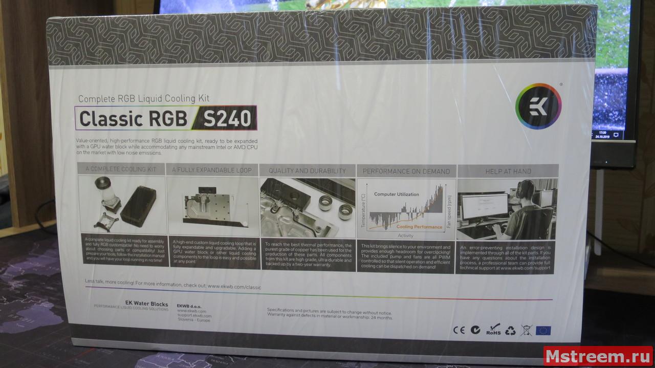 Водяное охлаждения для процессора ekwb EK-KIT Classic RGB S240
