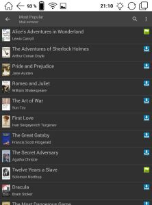 Сетевые библиотеки книг OPDS - Onyx Boox Livingstone