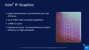 Ключевые особенности процессоров Intel Tiger Lake