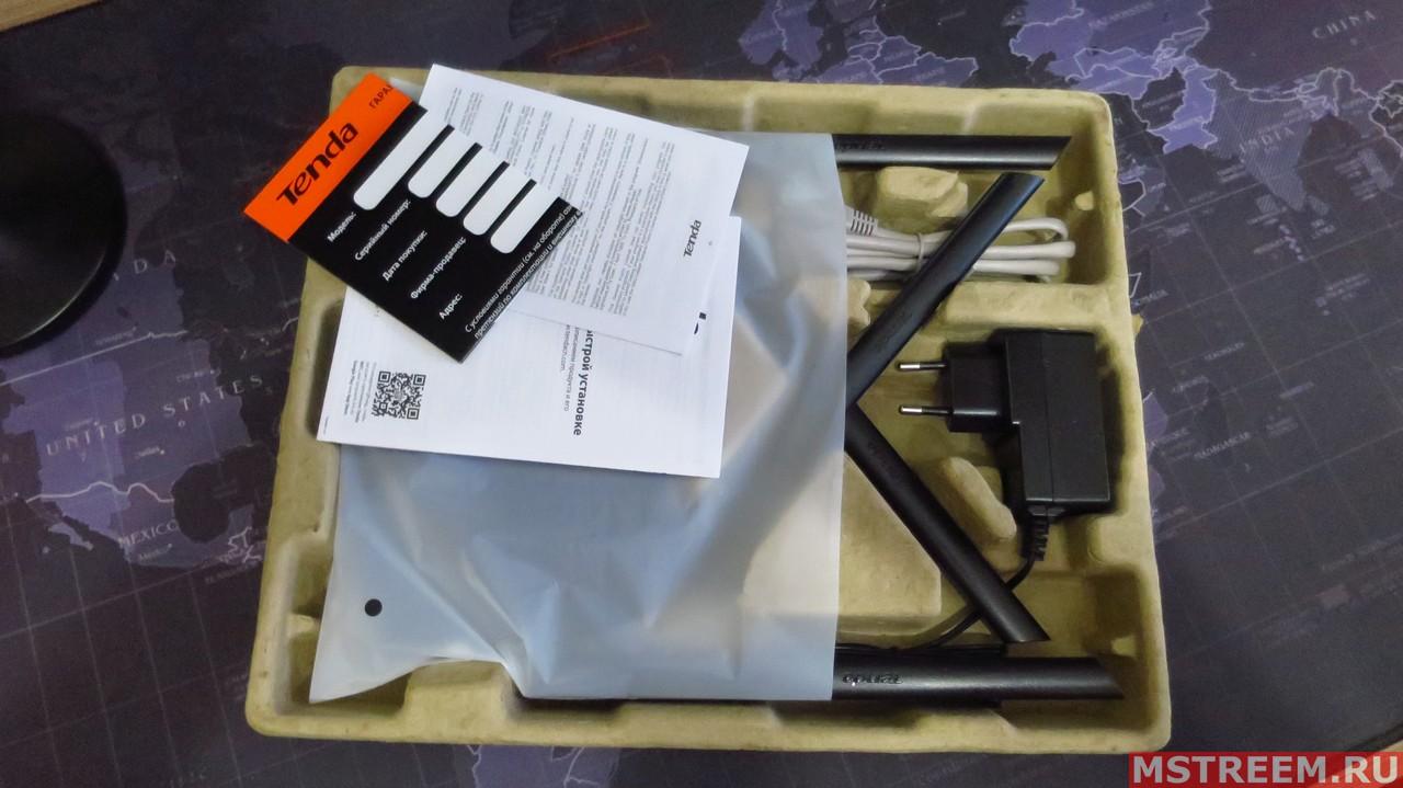 Комплект поставки роутера Tenda AC8
