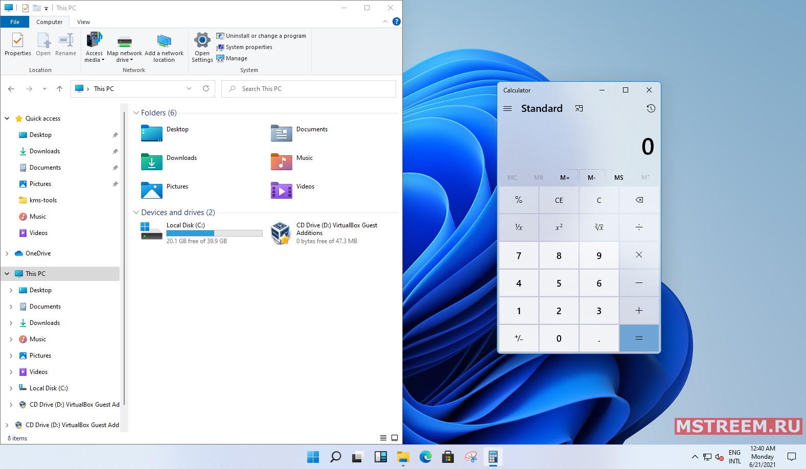 Окна приложений в Windows 11