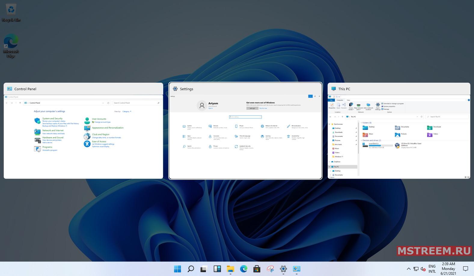 Многозадачность Windows 11