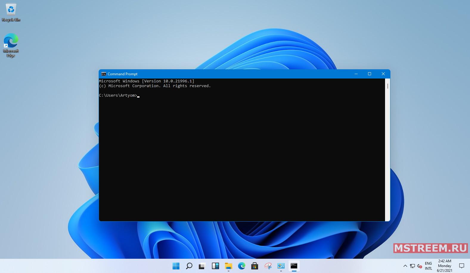 Рабочий стол операционной системы windows 11