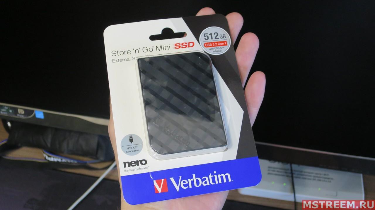 Внешний SSD Verbatim Store 'n' Go Mini