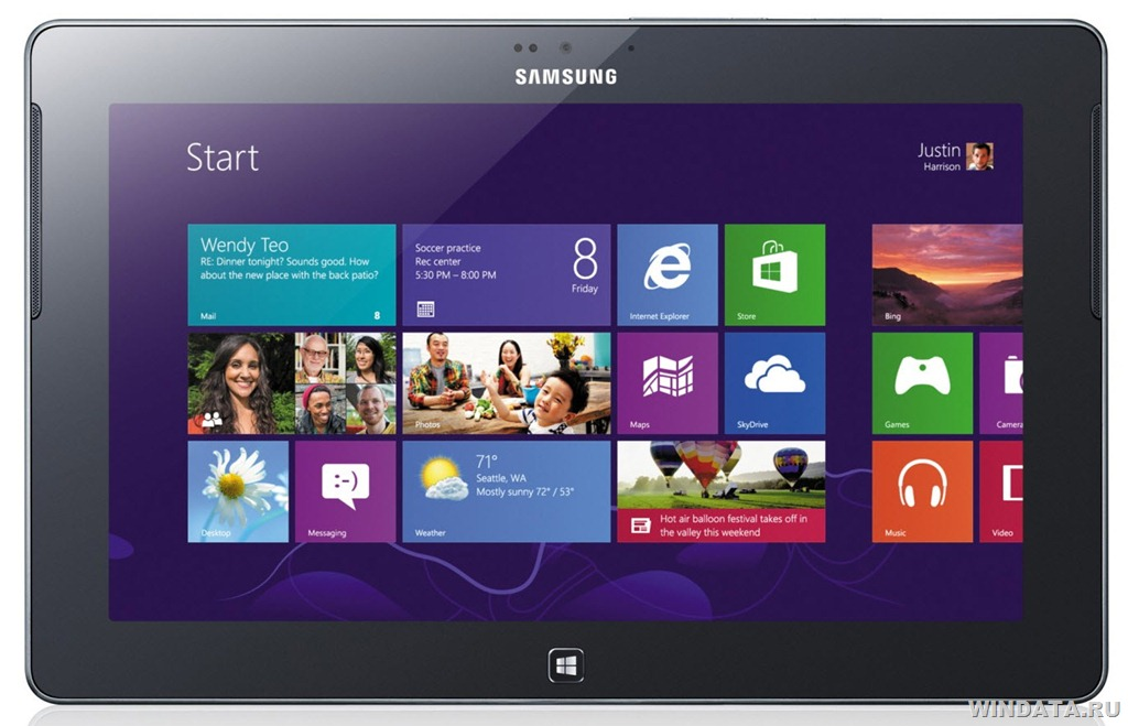 Планшет Samsung Ativ Tab c Windows 8 RT на борту